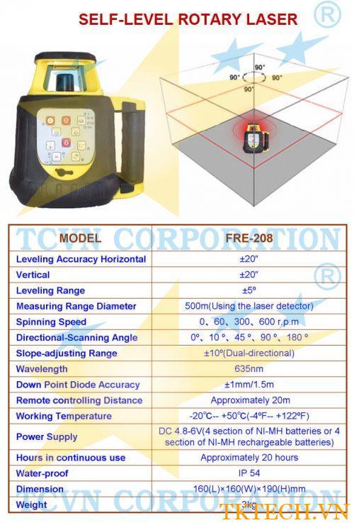 Máy đo laser xoay TCVN FRE-208