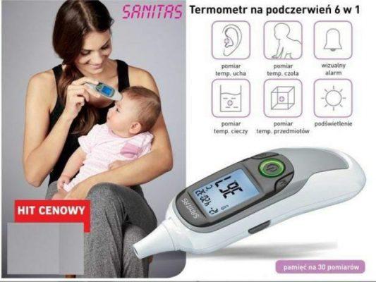 máy đo thân nhiệt Sanitas SFT 77-5