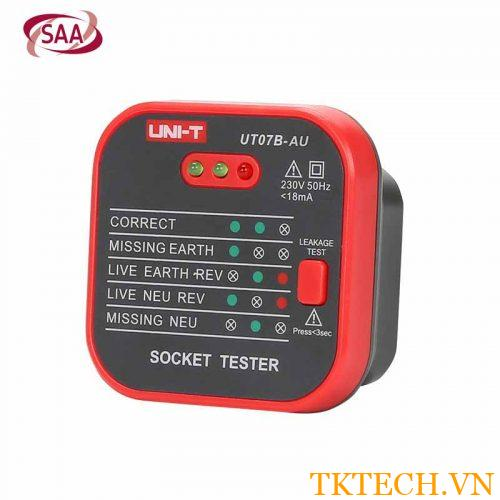 Thiết bị kiểm tra ổ cắm Uni-T UT07B-AU Socket Tester