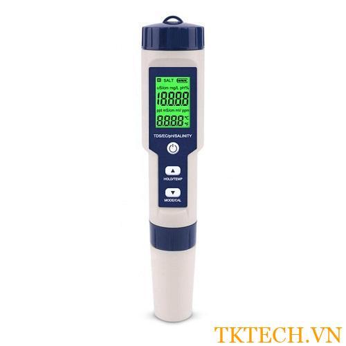 Máy đo 5 trong 1 pH, độ mặn, EC, TDS, nhiệt độ EZ-9909 SP