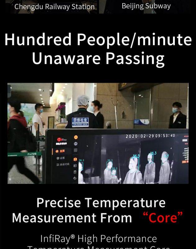 Kiểm tra thân nhiệt với Camera đo thân nhiệt InfiRay AT300