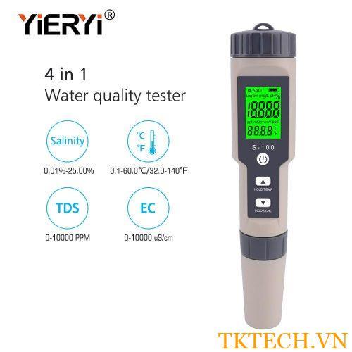Máy đo chất lượng nước 4 trong 1 S-100