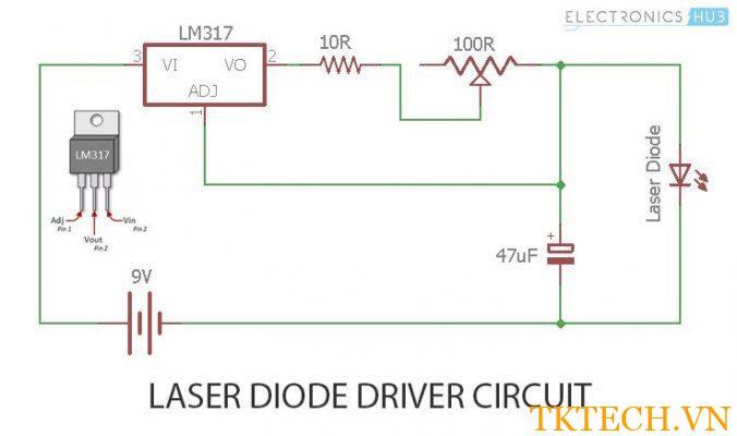 Cách tạo mạch điều khiển Laser Diode?