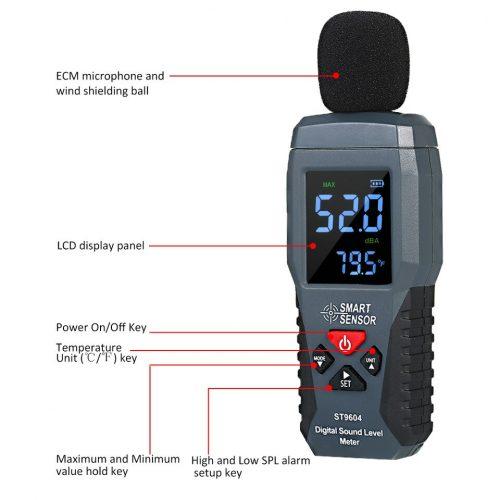 Máy đo cường độ âm thanh Smart SenSor ST9604