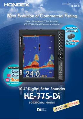 "Máy dò cá Hondex HE-775-DI FishFinder 10.4"""
