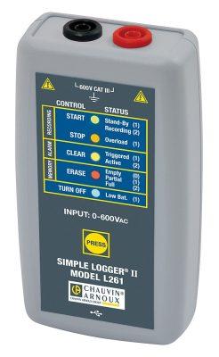 Máy ghi dữ liệu dòng điện Chauvin Anoux L261