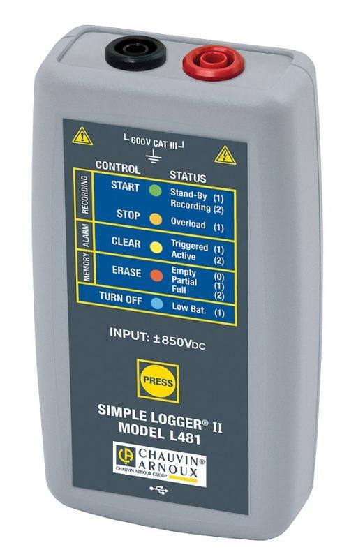 Máy ghi dữ liệu dòng điện Chauvin Anoux L481