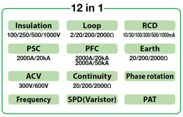 Chức năng của Máy kiểm tra đa năng Kyoritsu 6516BT