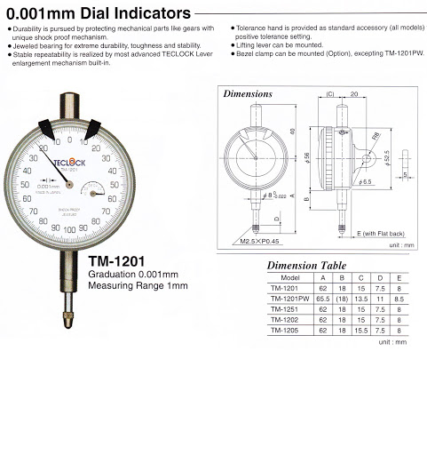 Đồng hồ so Teclock TM-1201 - TKTECH Co., LTD