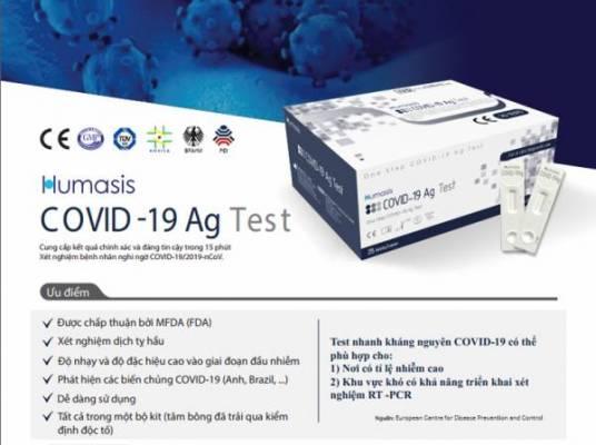Tính năng của bộ kit test nhanh Covid-19 Humasis